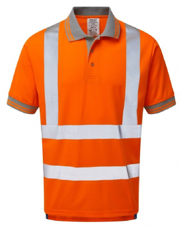 Pulsar PR176 Rail Spec Short Sleeve Polo Shirt (High Vis Orange)